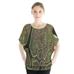 Fractal Complexity 3d Dimensional Blouse by Nexatart