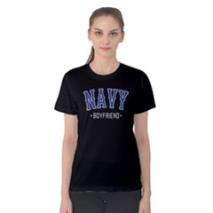 Navy boyfriend - Women s Cotton Tee by FunnySaying