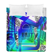 Security Castle Sure Padlock Duvet Cover Double Side (Full/ Double Size) by Nexatart