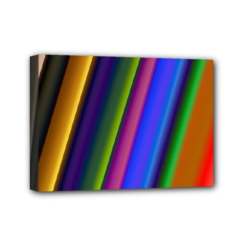 Strip Colorful Pipes Books Color Mini Canvas 7  X 5  by Nexatart