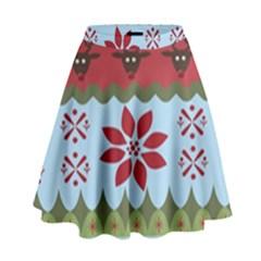 Ugly Christmas Xmas High Waist Skirt by Nexatart