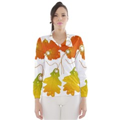 Vector Beautiful Maple Leaf Wind Breaker (women)