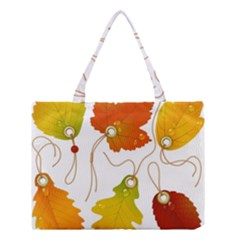 Vector Beautiful Maple Leaf Medium Tote Bag by Nexatart