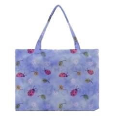 Ladybug Blue Nature Medium Tote Bag by Nexatart