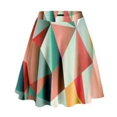 Abstracts Colour High Waist Skirt by Nexatart