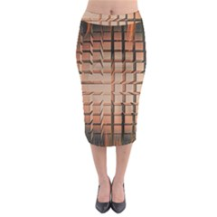 Abstract Texture Background Pattern Midi Pencil Skirt