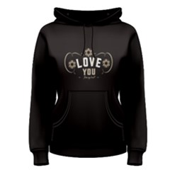 Black love from my heart  Women s Pullover Hoodie by FunnySaying