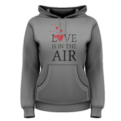 Grey love is in the air  Women s Pullover Hoodie by FunnySaying