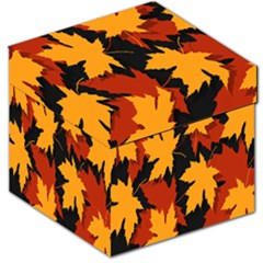 Dried Leaves Yellow Orange Piss Storage Stool 12   by Alisyart