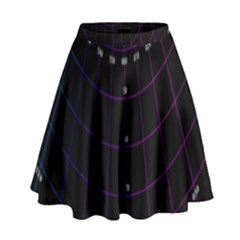 Formula Number Line Purple Natural High Waist Skirt by Alisyart