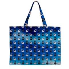 Goose Swan Anchor Blue Mini Tote Bag by Alisyart