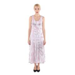 Graffiti Paint Pink Sleeveless Maxi Dress by Alisyart