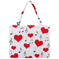 Love Song Pattern Mini Tote Bag by Valentinaart