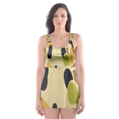 Army Camouflage Pattern Skater Dress Swimsuit by Nexatart