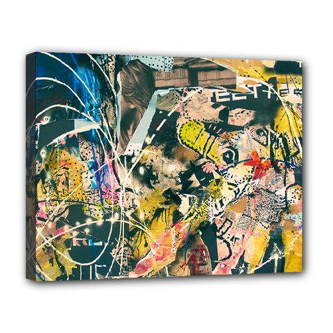 Art Graffiti Abstract Vintage Canvas 14  X 11  by Nexatart