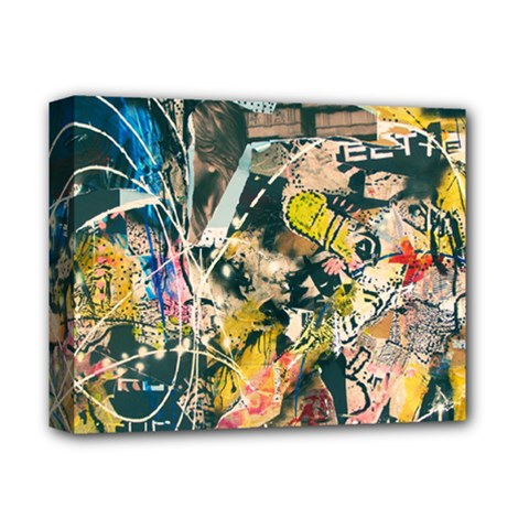 Art Graffiti Abstract Vintage Deluxe Canvas 14  X 11  by Nexatart