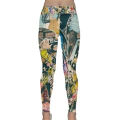Art Graffiti Abstract Vintage Classic Yoga Leggings by Nexatart