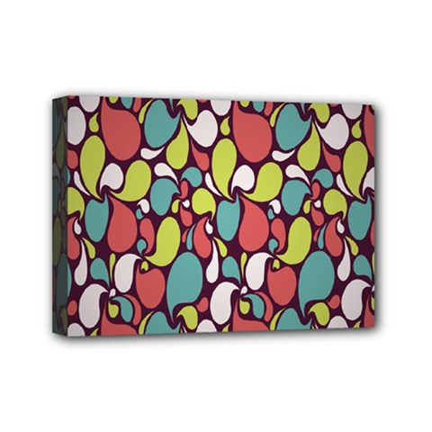 Leaf Camo Color Flower Mini Canvas 7  X 5  by Alisyart