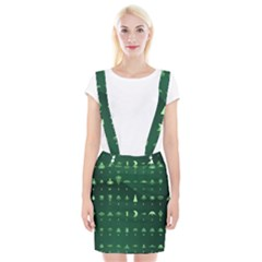 Ufo Alien Green Suspender Skirt
