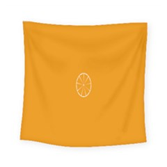Lime Orange Fruit Fres Square Tapestry (small) by Alisyart