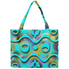 Background Braid Fantasy Blue Mini Tote Bag by Nexatart