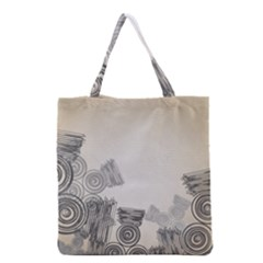 Background Retro Abstract Pattern Grocery Tote Bag by Nexatart