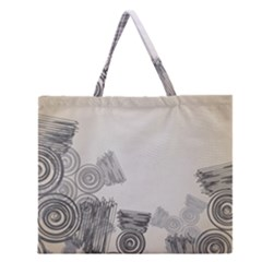 Background Retro Abstract Pattern Zipper Large Tote Bag by Nexatart
