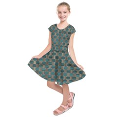 Background Vert Kids  Short Sleeve Dress