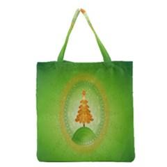 Beautiful Christmas Tree Design Grocery Tote Bag by Nexatart
