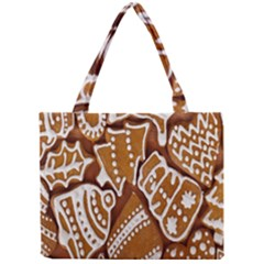 Biscuit Brown Christmas Cookie Mini Tote Bag by Nexatart