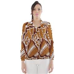 Biscuit Brown Christmas Cookie Wind Breaker (women)