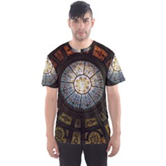 Black And Borwn Stained Glass Dome Roof Men s Sport Mesh Tee by Nexatart