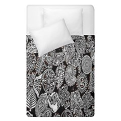 Black And White Art Pattern Historical Duvet Cover Double Side (Single Size)