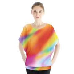 Blur Color Colorful Background Blouse by Nexatart