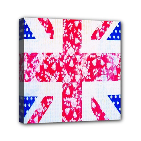 British Flag Abstract Mini Canvas 6  X 6  by Nexatart