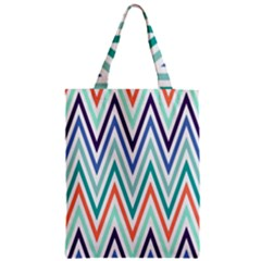 Chevrons Colourful Background Zipper Classic Tote Bag by Nexatart