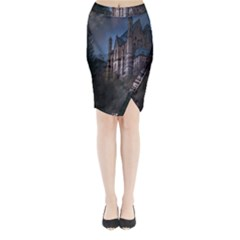 Castle Mystical Mood Moonlight Midi Wrap Pencil Skirt by Nexatart