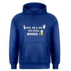 Blue win or lose we still booze Men s Pullover Hoodie by FunnySaying