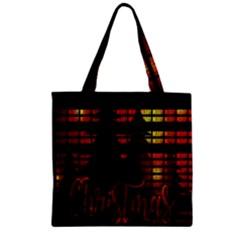 Christmas Advent Gloss Sparkle Zipper Grocery Tote Bag