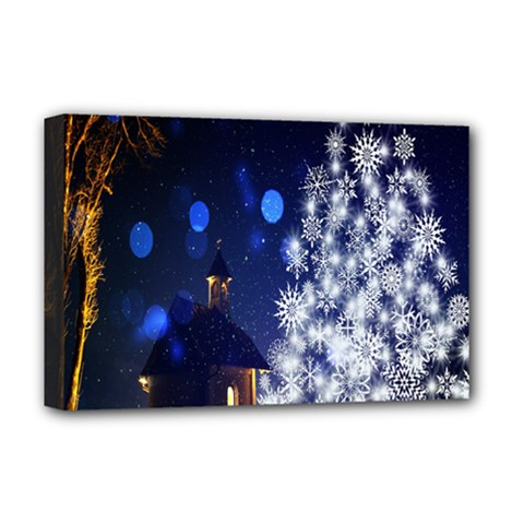 Christmas Card Christmas Atmosphere Deluxe Canvas 18  X 12   by Nexatart