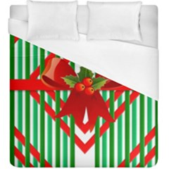 Christmas Gift Wrap Decoration Red Duvet Cover (King Size) by Nexatart