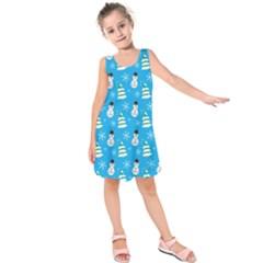 Christmas Pattern Kids  Sleeveless Dress