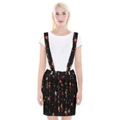 Christmas Star Advent Golden Suspender Skirt by Nexatart