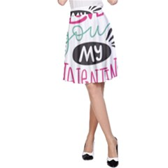 I Love You My Valentine (white) Our Two Hearts Pattern (white) A Line Skirt by FashionFling