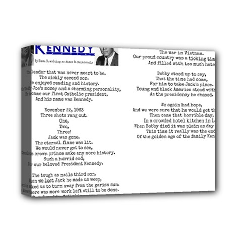 Kennedy Poem Deluxe Canvas 16  X 12   by athenastemple