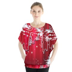 City Nicholas Reindeer View Blouse by Nexatart