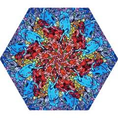 Colorful Graffiti Art Mini Folding Umbrellas by Nexatart