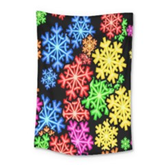 Colourful Snowflake Wallpaper Pattern Small Tapestry by Nexatart