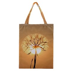 Dandelion Sun Dew Water Plants Classic Tote Bag by Nexatart