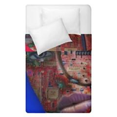 Display Dummy Binary Board Digital Duvet Cover Double Side (single Size) by Nexatart